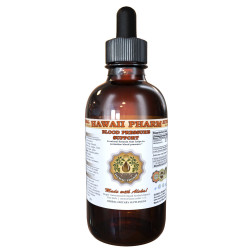 Blood Pressure Support Liquid Extract, Flaxseed, Hawthorn, Motherwort, Marshmallow Herbal Supplement