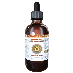 Coltsfoot and Liquorice Liquid Extract, Certified Organic Coltsfoot Dried Leaf and Liquorice Dried Root Tincture Herbal Supplement