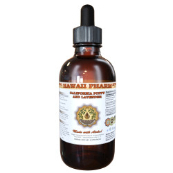 California Poppy and Lavender, California Poppy Aerial Parts, Lavender Flower Tincture