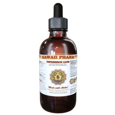 Depression Care Liquid Extract, St. John's Wort Dried Herb, Saffron Dried Whole Stigma, Ginkgo Dried Leaf Tincture Herbal Supplement