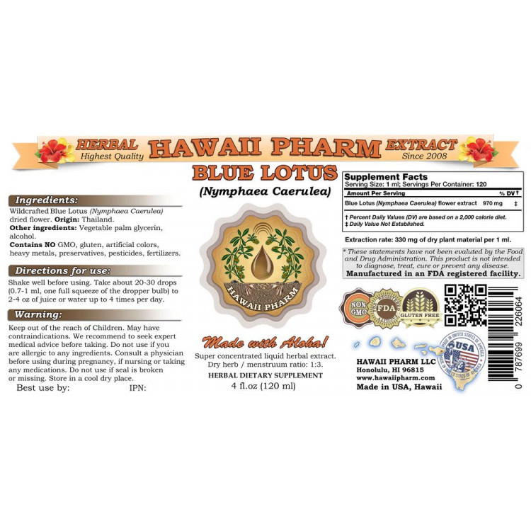 Blue Lotus Liquid Extract Blue Lotus Nymphaea Caerulea Flower