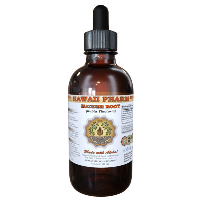 Madder Root Liquid Extract, Madder Root (Rubia Tinctoria) Dried Root Tincture