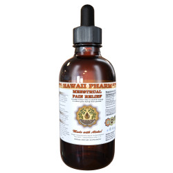 Menstrual Pain Relief Liquid Extract, Black Cohosh Dried Root, Cramp Bark Dried Bark, Chasteberry Dried Berry Tincture