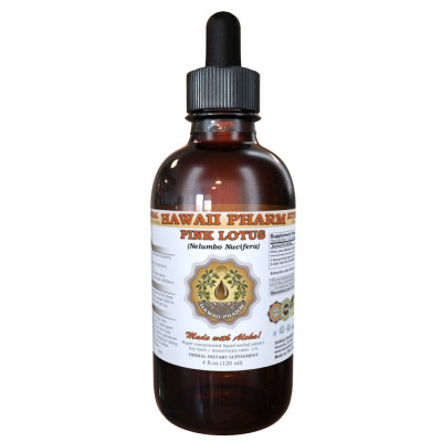 Pink Lotus Liquid Extract, Organic Sacred Water Lotus (Nelumbo nucifera) Dried Leaf and Flower Tincture