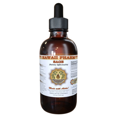 Sage Liquid Extract, Organic Sage (S. officinalis) Dried Leaf Tincture