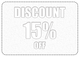 15% (from $300) Discount