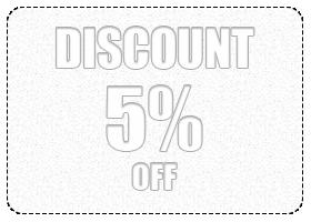 5% ($101-$150) Discount
